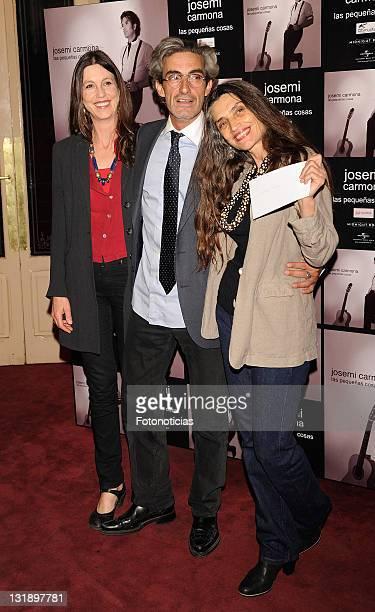Sandra Blakstad Micky Molina and Angela Molina attend the Josemi Carmona concert at the HaagenDazs Theatre on May 30 2011 in Madrid Spain