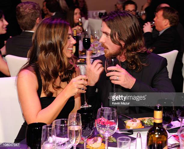 Sandra Blazic and Christian Bale attends the 16th Annual Critics Choice Movie Awards at the Hollywood Palladium on January 14 2011 in Los Angeles...