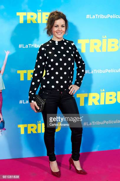 Sandra Blazquez attends 'La Tribu' premiere at the Capitol cinema on March 12 2018 in Madrid Spain
