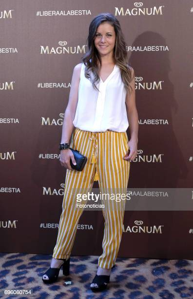 Sandra Blazquez attends the Magnum new campaign presentation party at the Palacete de Fortuny on June 14 2017 in Madrid Spain