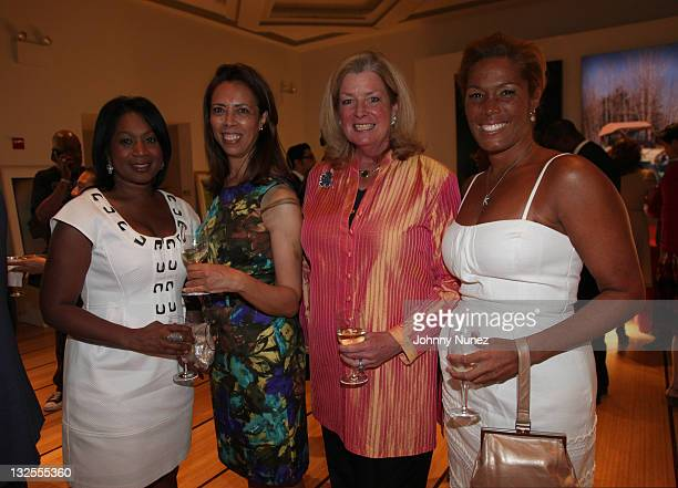 Sandra Bookman Lucille Blari Board Laura King and Kemberly Richardson attend the 12th Annual Art For Life art auction preview at Bonhams on July 13...