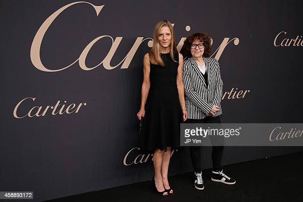 Sandra Brant and Ingrid Sischy attend The Maison Cartier Celebrates 100th Anniversary Of Their Emblem La Panthere De Cartier at Skylight Clarkson Sq...