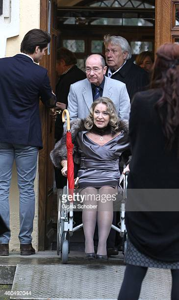 Sandra Brock mother of Verena Brock attends the wedding of Gil Ofarim and Verena Brock on December 15 2014 in Ismaning Munich Germany