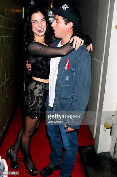 Sandra Bullock and Adam Sandler during 1994 MTV Video Music Awards at Radio City Music Hall in New York City New York United States