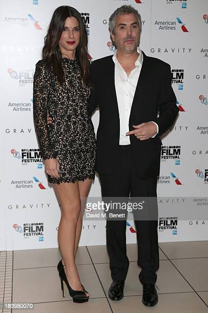 Sandra Bullock and Alfonso Cuaron attends a screening of Gravity during the 57th BFI London Film Festival at Odeon Leicester Square on October 10...