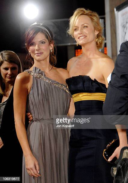 Sandra Bullock and Amber Valletta during 'Premonition' Los Angeles Premiere Arrivals at Cinerama Dome in Hollywood California United States