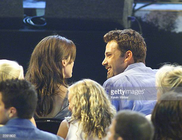 Sandra Bullock and Ben Affleck at the Teen Choice Awards 2001 held at the Universal Amphitheatre in Los Angeles CA August 12 2001