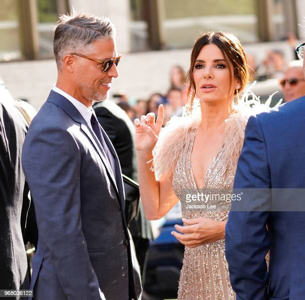 Sandra Bullock and Bryan Randall are seen at 'Oceans 8' World Premiere on June 5 2018 in New York City