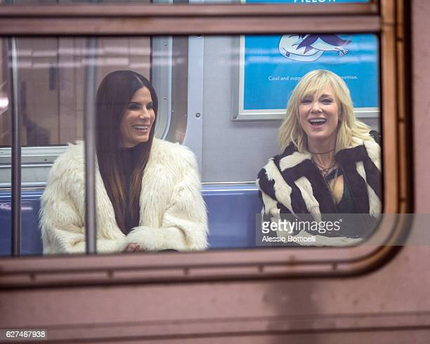 Sandra Bullock and Cate Blanchett are seen filming 'Ocean's 8' on December 3 2016 in New York City