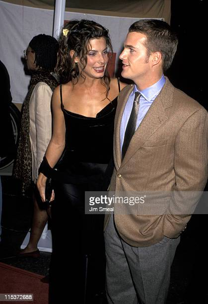 Sandra Bullock and Chris O'Donnell during 'In Love and War' Los Angeles Premiere at Los Angeles in Los Angeles California United States