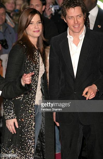 Sandra Bullock and Hugh Grant during 'Miss Congeniality 2' London Premiere Outside Arrivals at Vue Leicester Square in London Great Britain