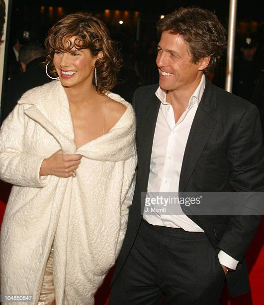 Sandra Bullock and Hugh Grant during Two Weeks Notice Premiere Arrivals at The Ziegfeld Theatre in New York City New York United States