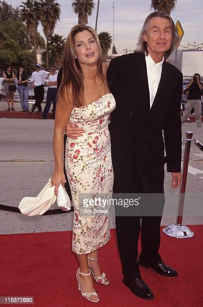 Sandra Bullock and Joel Schumacher during 3rd Annual Blockbuster Entertainment Awards at The Pantages Theatre in Los Angeles California United States