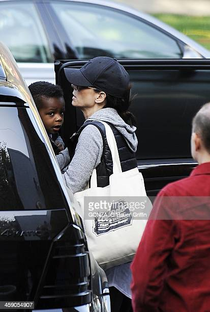 Sandra Bullock and Louis Bullock are seen on April 08, 2013 in Los Angeles, California.