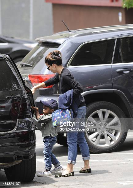 Sandra Bullock and Louis Bullock are seen on May 16, 2013 in Los Angeles, California.