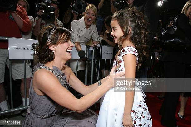 Sandra Bullock and Shyann McClure during Tri Star Pictures Presents the World Premiere of Premonition at Cinerama Dome in Hollywood California United...