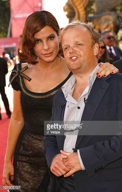 Sandra Bullock and Toby Jones during The 63rd International Venice Film Festival 'Infamous' Premiere Red Carpet and Inside at Palazzo Del Cinema in...