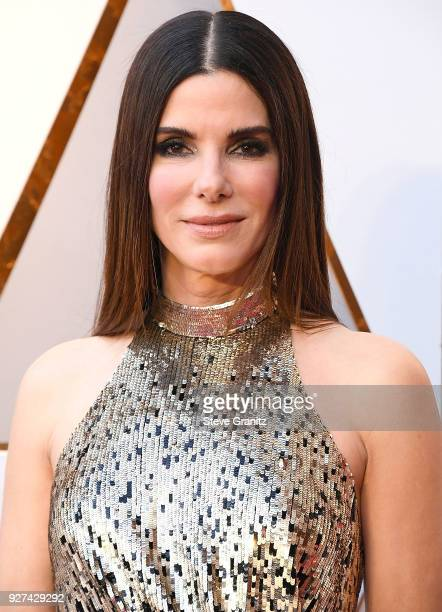 Sandra Bullock arrives at the 90th Annual Academy Awards at Hollywood Highland Center on March 4 2018 in Hollywood California