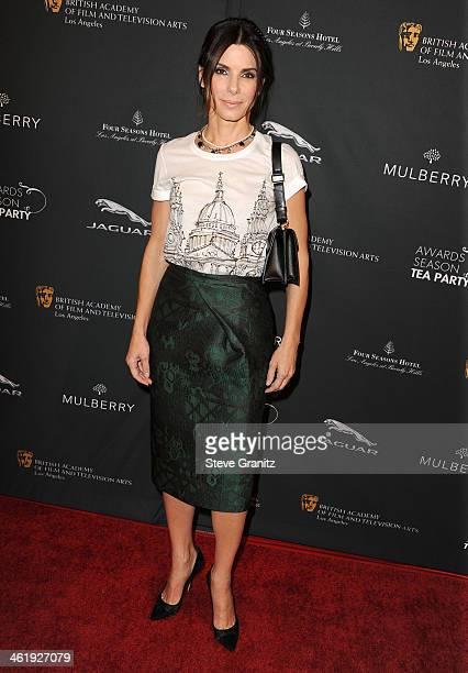Sandra Bullock arrives at the BAFTA Los Angeles Awards Season Tea Party at Four Seasons Hotel Los Angeles at Beverly Hills on January 11 2014 in...
