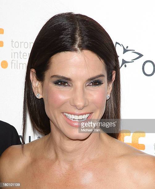 Sandra Bullock arrives at the Gravity premiere during the 2013 Toronto International Film Festival held at Princess of Wales Theatre on September 8...