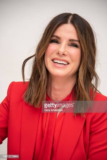 Sandra Bullock at the Bird Box Press Conference at the Four Seasons Hotel on November 12 2018 in Beverly Hills California