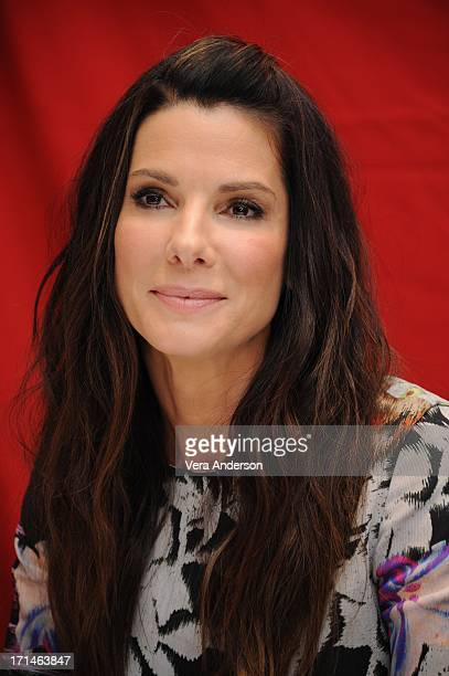 """Sandra Bullock at """"The Heat"""" Press Conference at the Ritz Carlton Hotel on June 23, 2013 in New York City."""