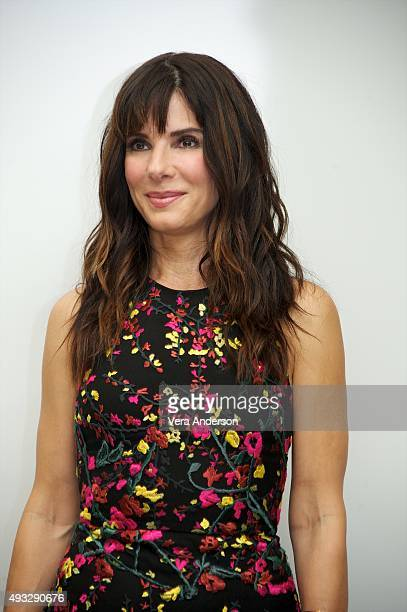 Sandra Bullock at the Our Brand Is Crisis Press Conference at the Four Seasons Hotel on October 17 2015 in Beverly Hills California