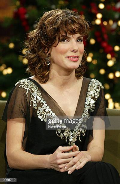 Sandra Bullock at 'The Tonight Show with Jay Leno' at the NBC Studios in Burbank Ca Thursday Dec 19 2002 Photo by Kevin Winter/ImageDirect