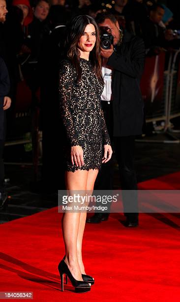 Sandra Bullock attends a screening of 'Gravity' during the 57th BFI London Film Festival at Odeon Leicester Square on October 10, 2013 in London,...
