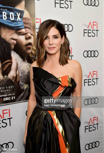 Sandra Bullock attends a screening of Netflix's 'Bird Box' at TCL Chinese Theatre on November 12 2018 in Los Angeles California