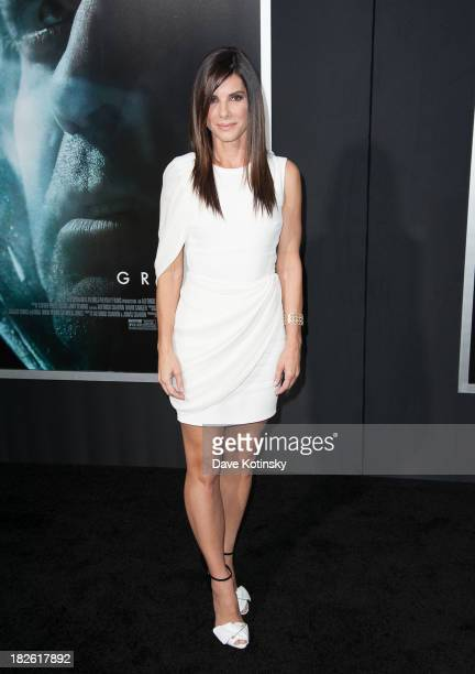 Sandra Bullock attends at the Gravity premiere at AMC Lincoln Square Theater on October 1 2013 in New York City