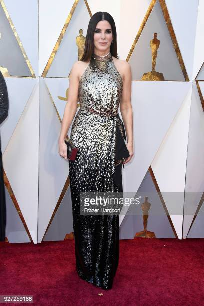 Sandra Bullock attends the 90th Annual Academy Awards at Hollywood Highland Center on March 4 2018 in Hollywood California