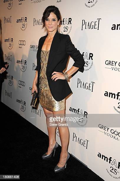 Sandra Bullock attends the amfAR Inspiration Gala at Chateau Marmont on October 27, 2011 in Los Angeles, California.