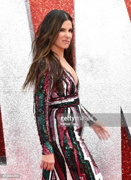 Sandra Bullock attends the European Premiere of 'Ocean's 8' at Cineworld Leicester Square on June 13 2018 in London England