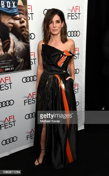 Sandra Bullock attends the gala screening of 'Bird Box' during AFI FEST 2018 on November 5 2018 in Los Angeles California