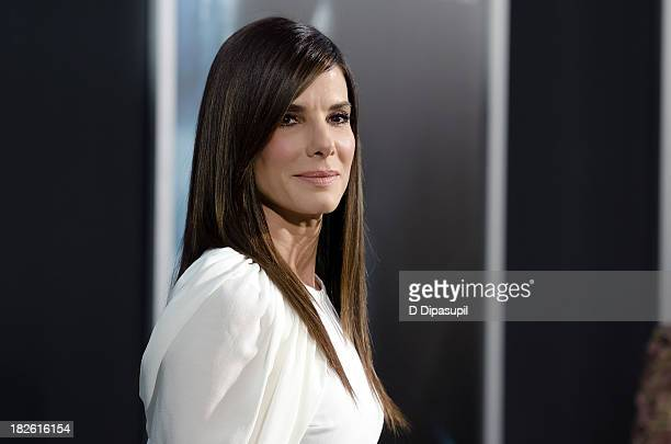 Sandra Bullock attends the Gravity New York premiere at AMC Lincoln Square Theater on October 1 2013 in New York City