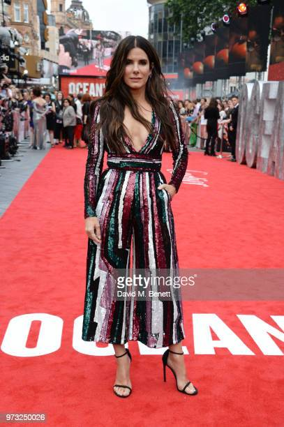 Sandra Bullock attends the Ocean's 8 UK Premiere held at Cineworld Leicester Square on June 13 2018 in London England