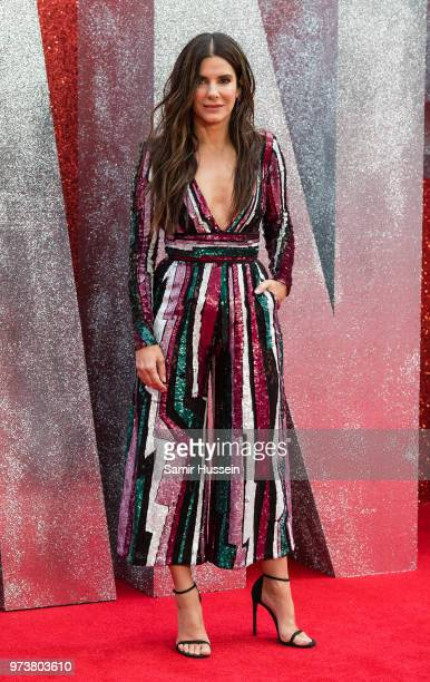 Sandra Bullock attends the 'Ocean's 8' UK Premiere held at Cineworld Leicester Square on June 13 2018 in London England