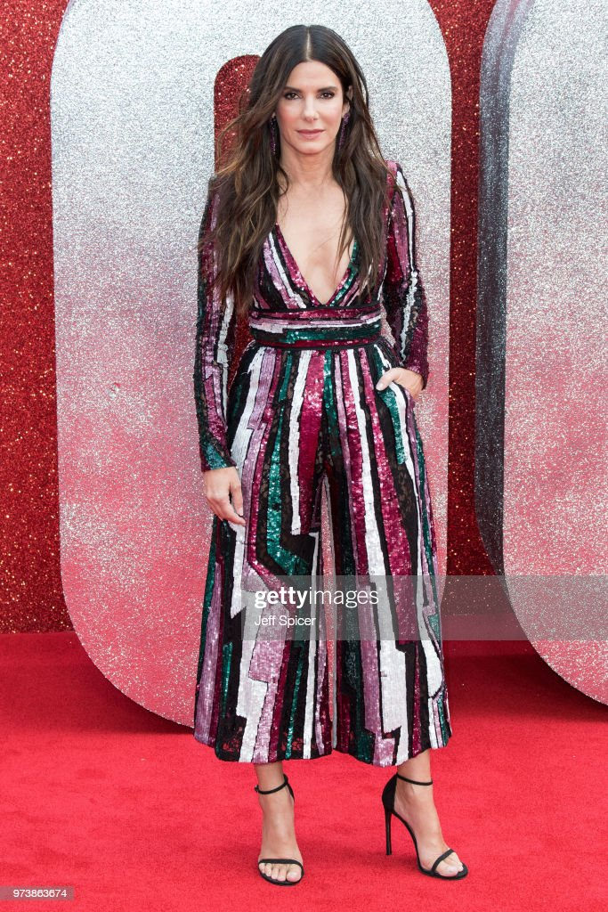 Sandra Bullock attends the 'Ocean's 8' UK Premiere held at Cineworld Leicester Square on June 13, 2018 in London, England.