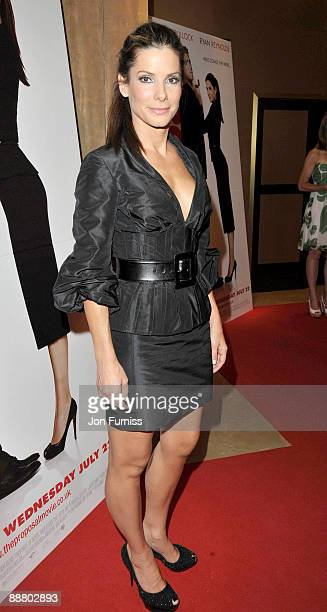 Sandra Bullock attends the VIP screening of 'The Proposal' at The Mayfair Hotel on July 2 2009 in London England