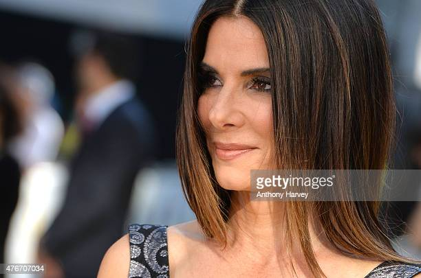 Sandra Bullock attends the World Premiere of Minions at Odeon Leicester Square on June 11 2015 in London England