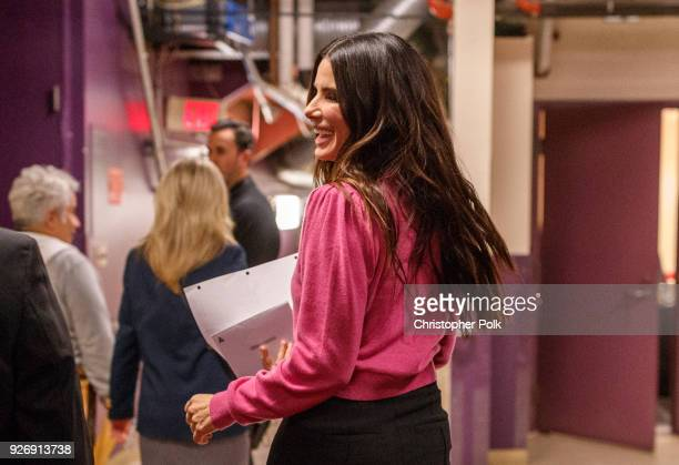 Sandra bullock Backstage during rehersals for the 90th Oscars at The Dolby Theatre on March 3, 2018 in Hollywood, California.