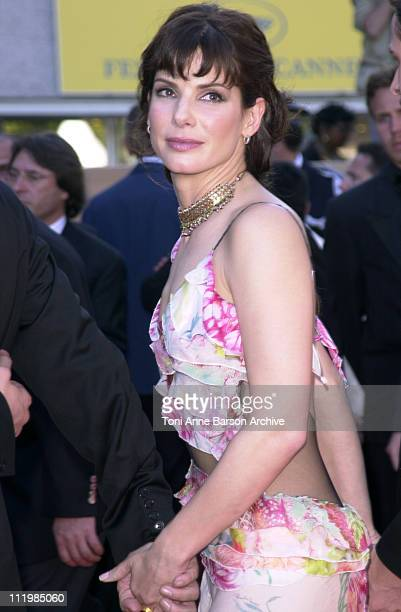 Sandra Bullock during Cannes 2002 'Murder by Numbers' Premiere at Palais des Festivals in Cannes France