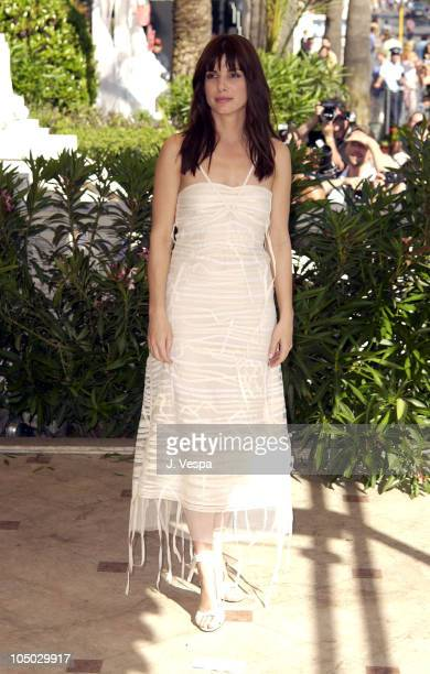 Sandra Bullock during Cannes 2002 'Two Weeks Notice' Photo Call in Cannes France