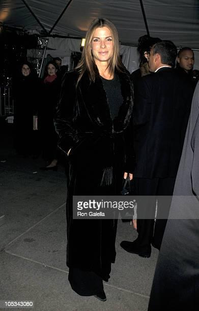 Sandra Bullock during Costume Institute Gala Giorgio Armani Exhibit at Metropolitan Museum of Art in New York City New York United States