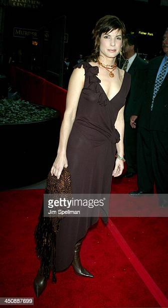 Sandra Bullock during New York Premiere of Murder by Numbers at Ziegfeld Theatre in New York City New York United States