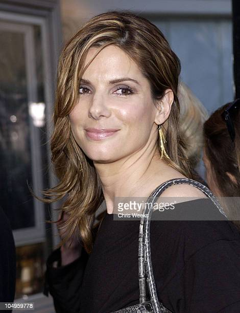 """Sandra Bullock during """"The Matrix Reloaded"""" Premiere at Mann Village Theater in Westwood, California, United States."""