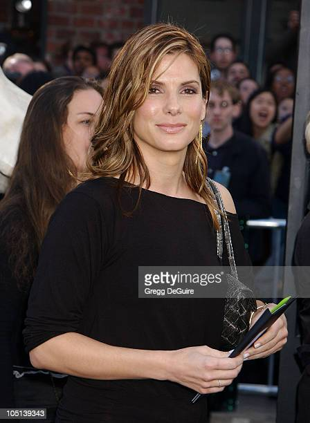 Sandra Bullock during 'The Matrix Reloaded' Premiere at Mann Village Theatre in Westwood California United States
