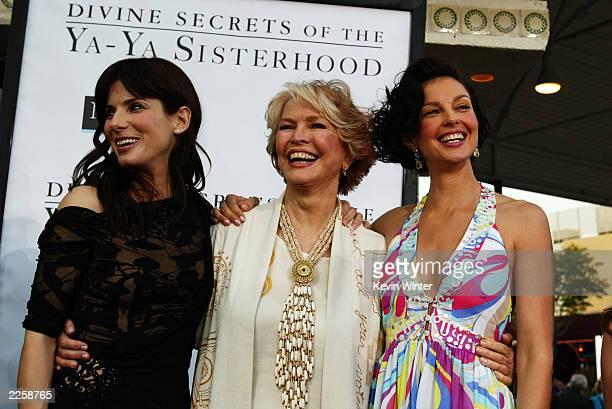 Sandra Bullock Ellen Burstyn and Ashley Judd arrive for the premiere of Divine Secrets Of The YaYa Sisterhood at the Mann Village Theater in Los...