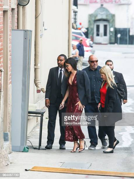 Sandra Bullock is seen arriving at the 'Jimmy Kimmel Live' on May 30 2018 in Los Angeles California